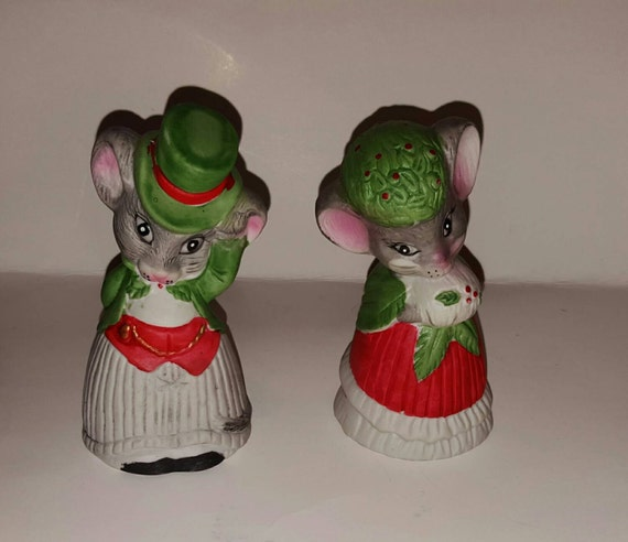 Vintage Christmas Decorations Mouse Carolers Set Jasco: JASCO Christmas Mouse Bells From 1980 Critter Bells