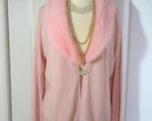 Vintage Pink New York and Co. Sweater with REMOVABLE Collar, XL, Fluffy Collar