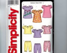 Sewing Pattern Simplicity 5644 Baby Toddler Girls Dress Top Panties Bloomers Easy Size Small Medium Large Newborn UNCUT