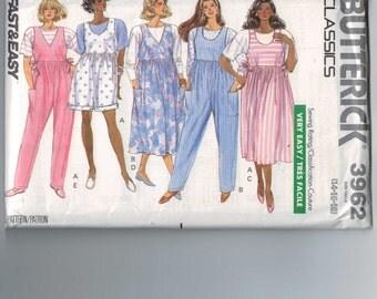 1980s Vintage Sewing Pattern Butterick 3962 Maternity Top Jumpsuit Jumper Size 14 16 18 Bust 36 38 40 UNCUT 80s 1989