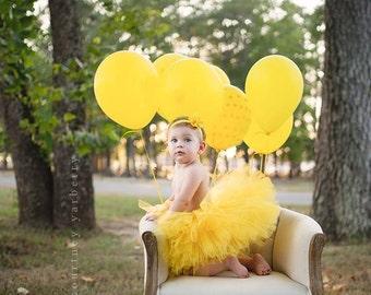 Yellow Tutu, 1st Birthday Tutu, First Birthday Tutu, Cake Smash Outfit Tutu, First Birthday Outfit Tutu, 1st Birthday Outfit Tutu, SEWN Tutu