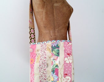 Linen and Cotton Cross Body Bag, handmade in Maine