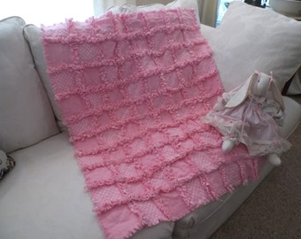 Pink Baby Rag Quilt