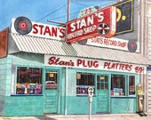 "Shreveport ""Stan's Record Shop"" Famous Blues Recording Studio and Record Shop Signed Numbered Art Print Buy Any Two Get One Free"