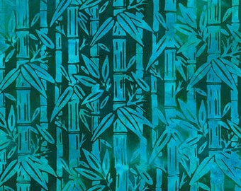 Bamboo Batik Aqua Lunn Studios Robert Kaufman Fabric 1 yard