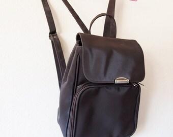 CAFE // Vintage 90s Brown Mini Backpack Purse Small Bag Festival Carryall 90s Grunge Tumblr Kawaii Clothing School