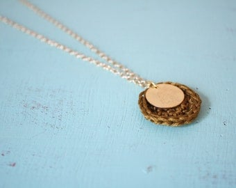 The Charlie Necklace - Olive