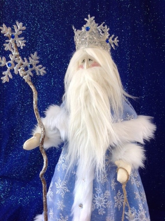 "Mailed Cloth Doll Pattern 21 1/2"" Old Man Winter Holiday Art Doll"