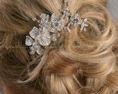 Rhinestone Hair Comb, Crystal Hair Comb, Wedding Hair Accessory - Cheyenne