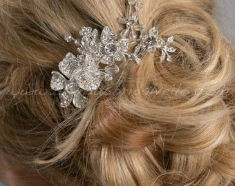 Rhinestone Hair Comb, Crystal Hair Comb, Wedding Hair Accessory - Cheyenne