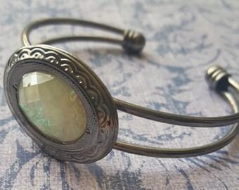 White Opal Cuff bracelet