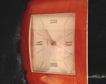 Vintage Wooden Table Clock