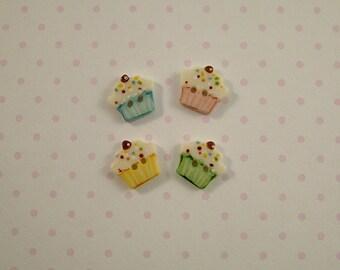 Cupcake Button set of 4