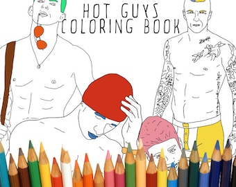 Hot Guy Adult Coloring Book, Ryan Gosling, Printable Adult Coloring Book Instant Download, Bachelorette Party Activity, Sexy Men
