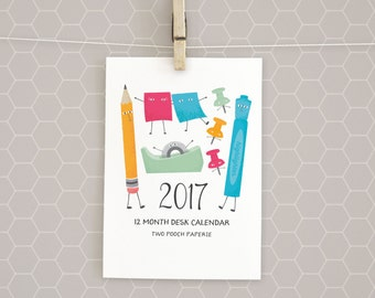 Clearance | 2017 Desk Calendar | 5x7 | Office Party