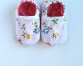 Reversible Baby Shoes, Wildflowers
