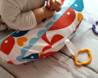 Organic Tummy Time Pillow, Whale Love