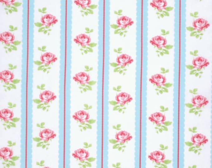 1.75 yards - Lulu Roses by Tanya Whelan - Lilah TW096 Sky blue