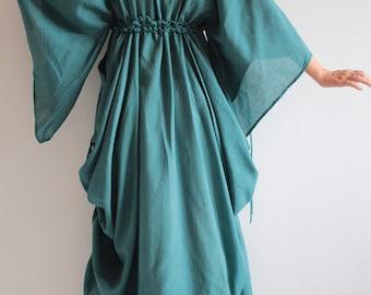 Helen Mixed Silk Maxi Dress (366) (M-XL)