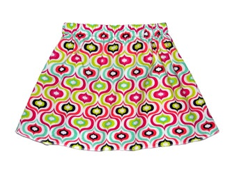 Geometric Pattern - Pink Skirt - Skirt - Genie Lamp - Toddler Girl - Girls Skirts -Skirt - Toddler Skirt - 3t - On SALE - Ready to Ship