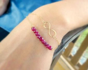 Dainty Infinity bracelet, Simple gold bracelet, friendship bracelet, gold infinity bracelet, minimal gold bracelet, layering bracelet, otisb