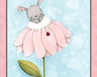 Bunny Love Fabric Panel