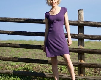 Organic Clothing - Soy Simple Dress - cap sleeve, A-line dress