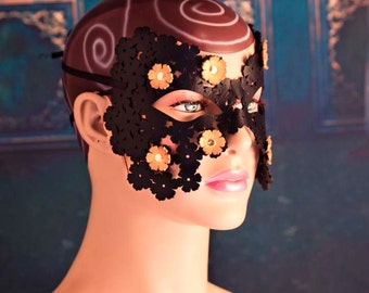masquerade mask lace, leather lace mask, fairy tale mask, lace,  masquerade mask, masquerade ball mask, party mask, flower mask, floral