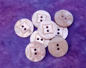 Pastel Purple Sewing Buttons 18mm - 8 VTG Wisteria Lilac Vintage Buttons - 5/8 inch Wacky Square Faceted Retro Luminescent Plastic PL126 bb