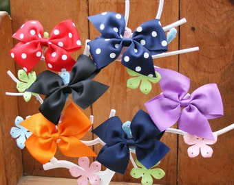 Basic Pinwheel Bow--Your Choice of Color/Print
