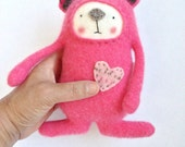 Small Cashmere Stuffed Animal Bear Upcycled Repurposed Sweater