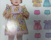 Baby Dress and Panties Pattern A6316 Newlook Pattern Summer Dress Long or Short Sleeves with Matching Panties