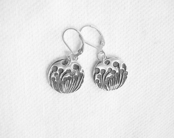 New Growth of Spring - Fine Silver Handcrafted Earrings