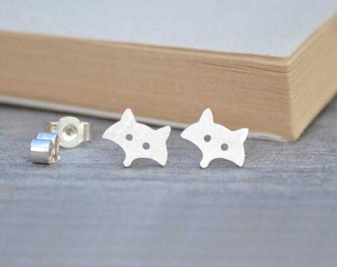 Fox Earring Studs In Sterling Silver, Foxy Earring Studs Handmade In The UK By Huiyi Tan