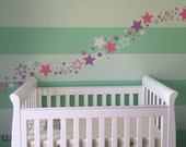 Stars Wall Decals - set of 100