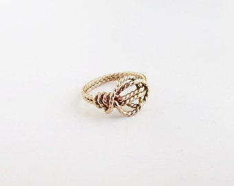 Love Knot Promise Ring X2 14K Gold