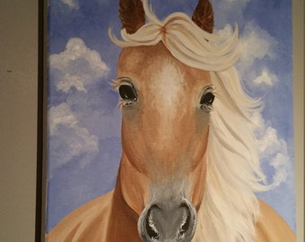 "Original Acrylic painting on canvas ""Blondie"""