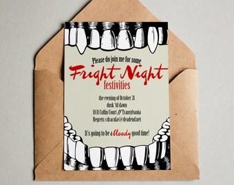 PRINTABLE Vampire Halloween Party Invitation or Evite