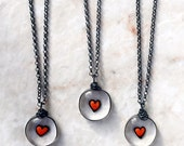 Glass Heart Necklace, Transparent Glass Pendant, Fused Glass Heart, Always In My Heart