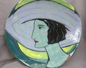 Lady and moon bowl
