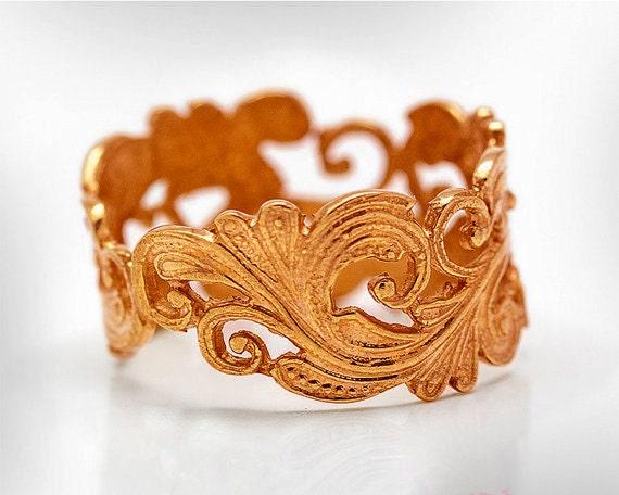 Bridal Wedding Ring, Wedding Ring Rose Gold, Wedding Ring Vintage, Art Deco Wedding Ring, Unique Wedding Ring Women, Free Shipping