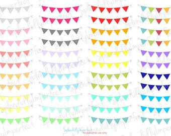 Mini Bunting Banner Planner Stickers
