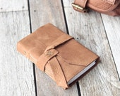 Rustic Leather Travel Journal, Tan Leather Diary
