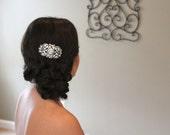 Wedding hair piece, Bridal hair comb, Antique silver headpiece, Wedding hair accessory, Rhinestone hair comb, Crystal hair comb, Veil comb