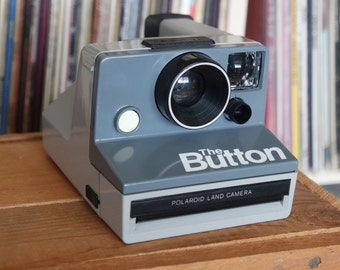 "1980's Polaroid ""The Button"" Camera - Film-Tested & Working"