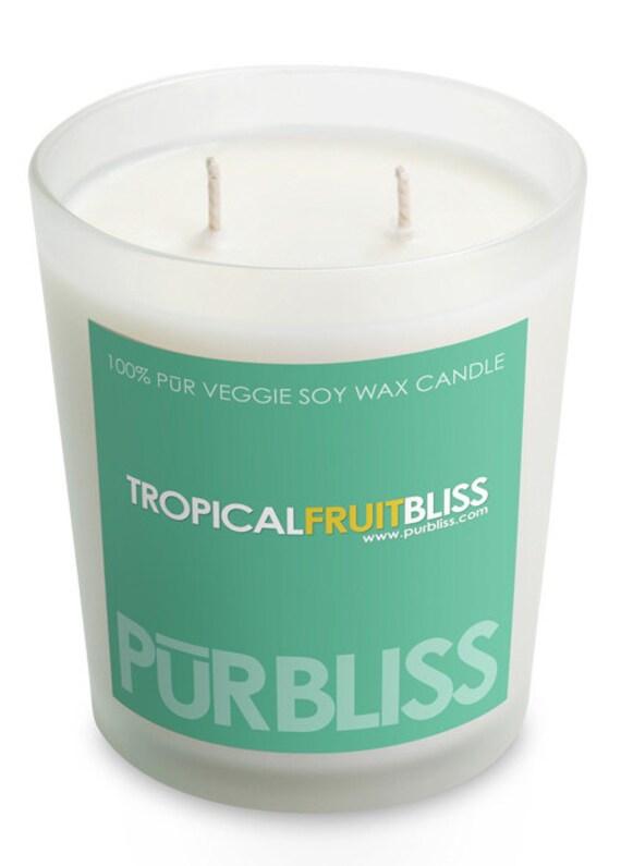 SALE 10oz Tropical Fruit Soy Candle