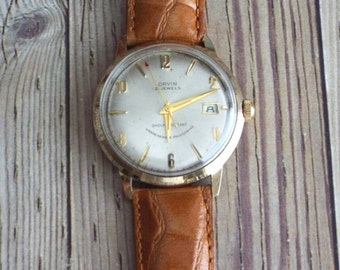 Vintage Orvin Gold Filled Wrist Watch by avintageobsession on etsy