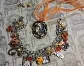 Charm Bracelet set II, Dance with Devils, bracelet, pendant, earrings, anime, fantasy, japanese