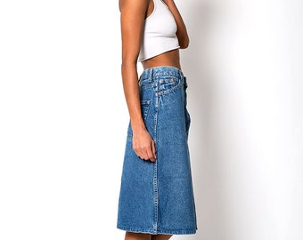 The Vintage Levi's 1980 Olympics Denim A-Line Skirt
