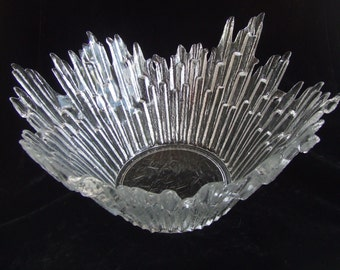 Vintage Brutalist Humppili Finland Scandinavian Northern Lights Icicle Serving Bowl